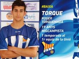 Roger Torquemada es una de las bajas del conjunto catalán. UEFigueres