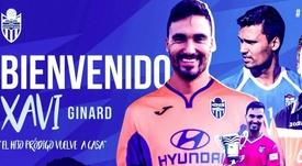 Ginard se unió de nuevo a las filas del Atlético Baleares. Twitter/atleticbalears