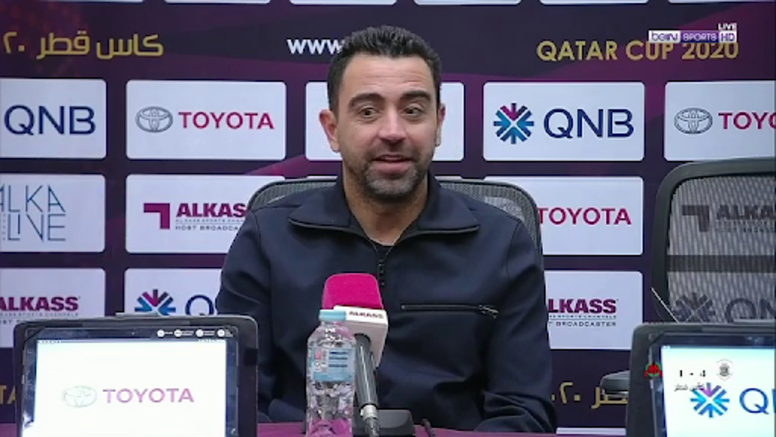 He wanst to manage Barcelona. Screenshot/beINSports