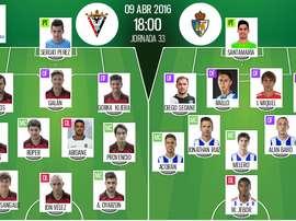 Ya tenemos las alineaciones del Mirandés-Ponferradina, partido correspondiente a la jornada 33 de la Liga Adelante. BeSoccer