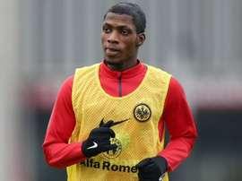 Yaffa, en un entrenamiento con el Eintracht. Twitter
