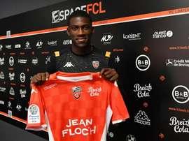 Yann Kitala, nouveau joueur de Lorient. Twitter/FCLorient
