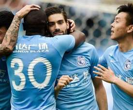 Carrasco was involved in a heated training ground bust up. DALIANYIFANG