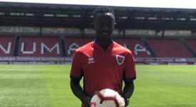 Yeboah, nuevo jugador del Numancia. CDNumancia