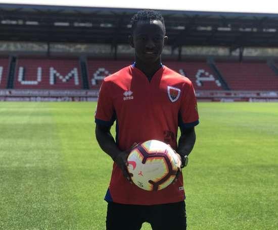 Yeboah, nouveau joueur de Numancia. CDNumancia