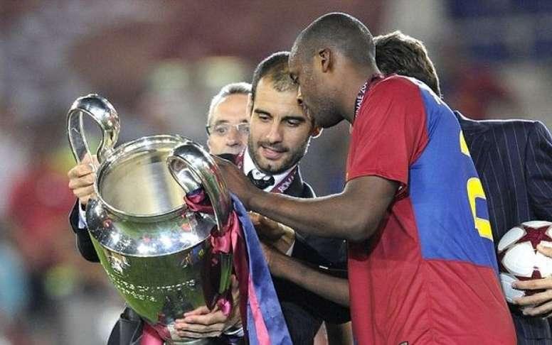 Le 'sextuple' historique conquis par Guardiola. EFE
