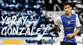 Así anunció el Hércules el fichaje de Yeray González. Twitter/CFHércules