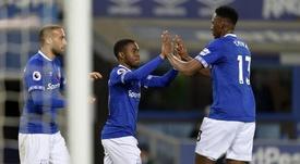 Yerry Mina no pasa por su mejor momento. EvertonFC