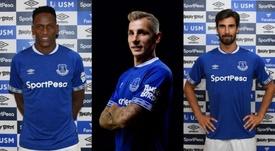 Sólo Digne ha debutado con la camiseta del equipo inglés. Everton