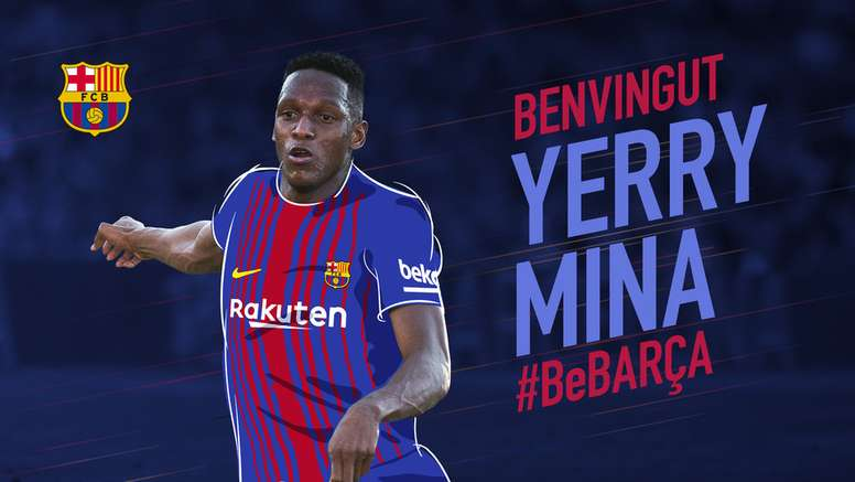 Mina has finally completed his move to the Camp Nou FCBarcelona