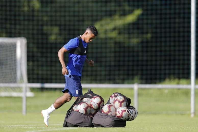 Bárcenas promete que seguirá trabajando por el club. Twitter/RealOviedo