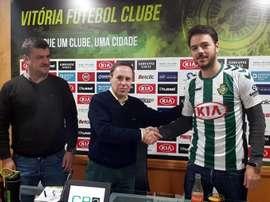 Yohan Tavares puede abandonar la disciplina del Vitoria Setúbal en los próximos meses. VFC