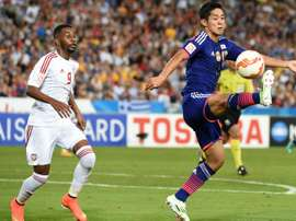 Muto represented Japan at the World Cup. AFP