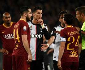 Florenzi and Ronaldo had an argument during the game. AFP