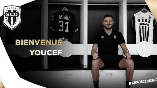 Angers recrute Youcef Belaili. AngersSCO