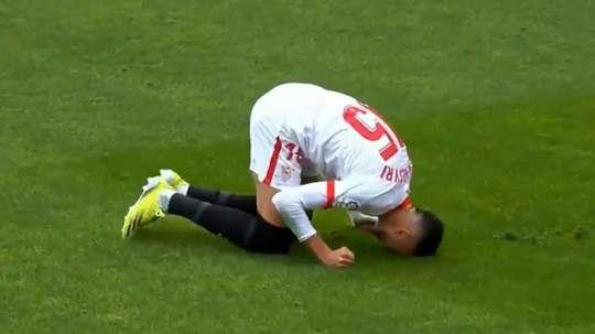 En-Nesyri suma once goles en Liga, 15 en total. Captura/Movistar