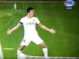 Yuma comemorando gols como Cristiano Ronaldo nas semifinais do Mundial de Clubes. Youtube-FoxSports