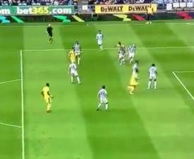 Zaha smashed in from range against Huddersfield. Captura