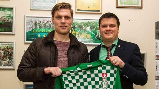 Zaliukas jugará la Liga Lituana con el Zalgiris Vilnius. Twitter