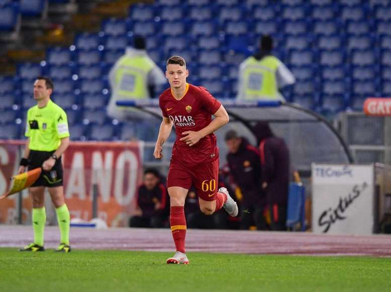 Zan Celar has stood out for Roma at U19 level. Twitter/OfficialASRoma