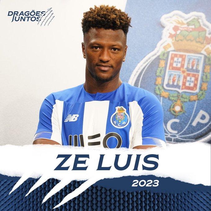 Zé Luis é oficialmente reforço do FC Porto. Twitter@FCPorto