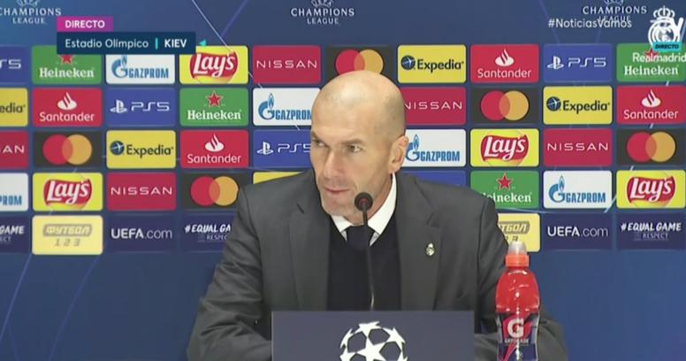 Zidane said he will not step down. Screenshot/RealMadrid