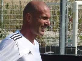 Zidane, ex del Real Madrid y técnico del Castilla. Patrick Gaudin.