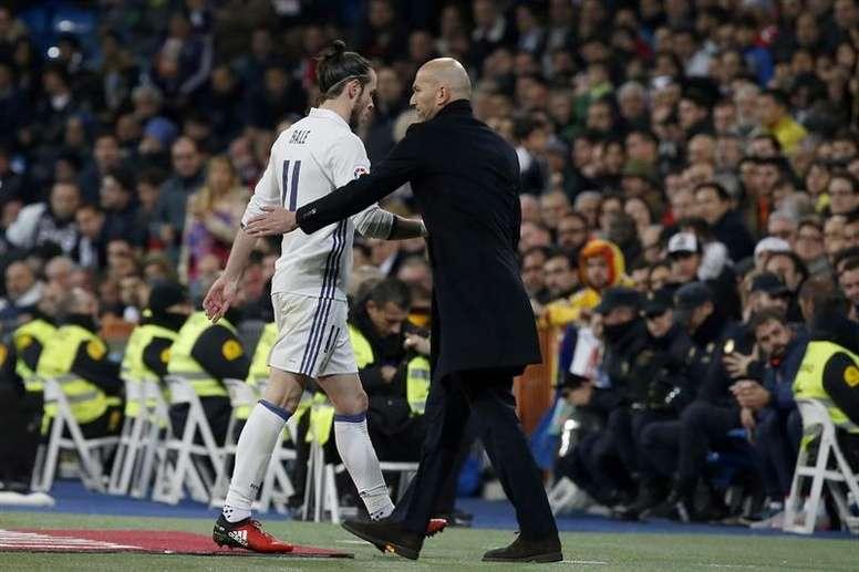 Zidane ne sait pas encore la date de retour de Bale. AFP