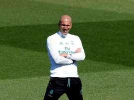 Zidane já pensa nas futuras contratações para a próxima temporada. EFE