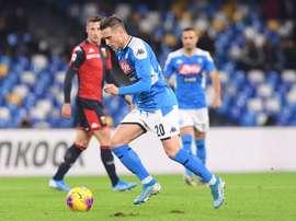 O Napoli quer segurar Zielinski por cinco anos. Twitter/SSCNapoli