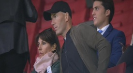 Zidane est allé voir son fils. Capture/Vodafone