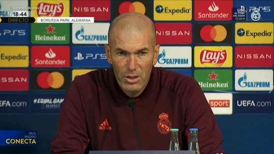 Zidane falou em coletiva antes de enfrentar o Mönchengladbach. Captura/RealMadrid