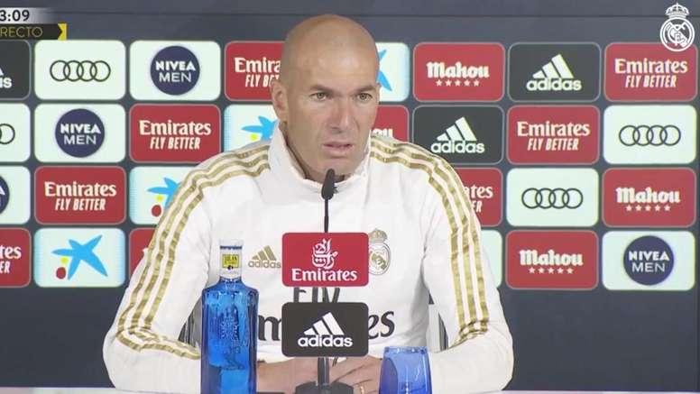 Zidane a analysé le duel contre Eibar. Capture/RealMadrid