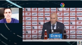 Zidane was annoyed by people talking about the referee following Real's win. Captura/LaLiga