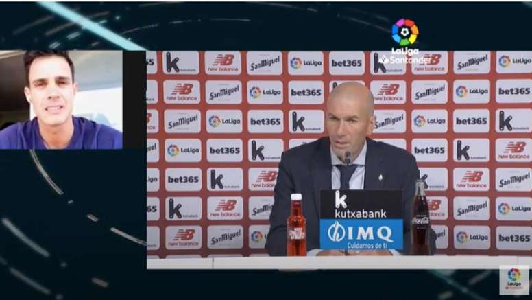 Zidane, molesto por los comentarios hacia su equipo. Captura/LaLiga