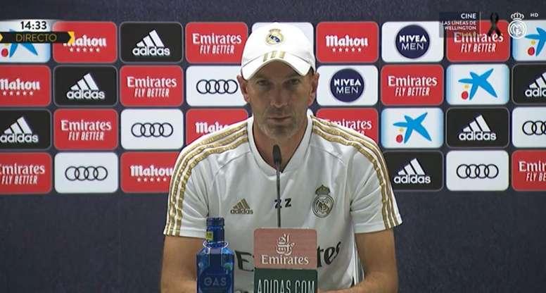 Zinedine Zidane comentou sobre a lesão de Hazard. Captura/RMTV