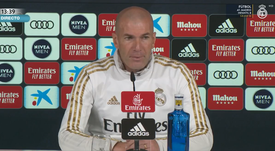 Zinedine Zidane spoke to the press ahead of Real Madrid's LaLiga clash. Screenshot/RealMadridTV