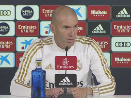 Zinedine Zidane appeared at the press conference prior to the duel with Espanyol. RealMadrid