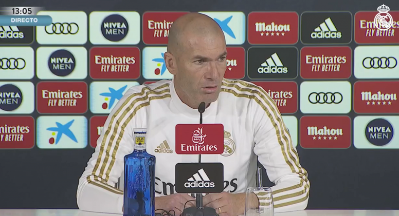 La conf. de presse de Zidane. Capture/RealMadrid