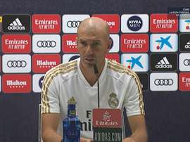 Zinedine Zidane était en conférence de presse. Capture/RealMadrid