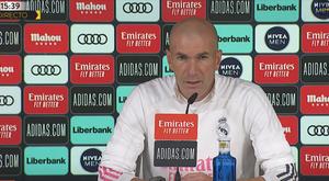 Zidane atendió a los medios antes de medirse al Sevilla. Captura/RealMadrid