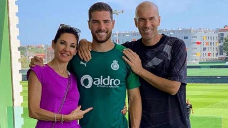Zidane jouera à Santander pour être avec son fils. Instagram/Zidane