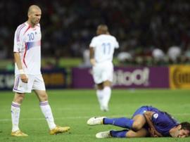A crítica de Materazzi aos seus companheiros. AFP