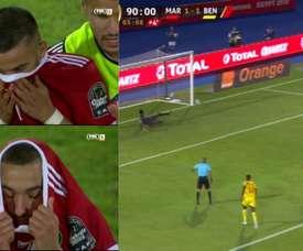 Le penalty manqué de Ziyech qui a provoqué le début de la fin. Captura/FOX