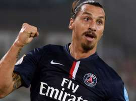 Zlatan Ibrahimovic, during a match with PSG. PSG