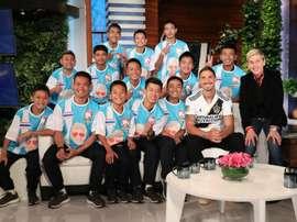 Ibrahimovic dejó a los chicos con la boca abierta. The Ellen Show
