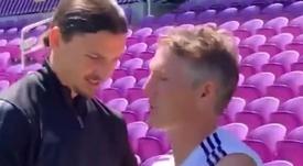 Ibrahimovic bromeó con la edad... pese a ser mayor que Bastian. ESPN