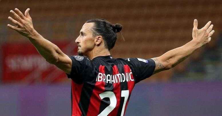 Le nouveau contrat d'Ibrahimovic à l'AC Milan. afp