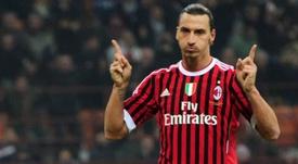 Ibra jogará no Milan. AFP