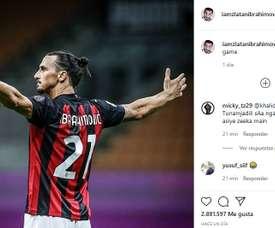 Ibra boasted about his performance. Instagram/iamzlatanibrahimovic